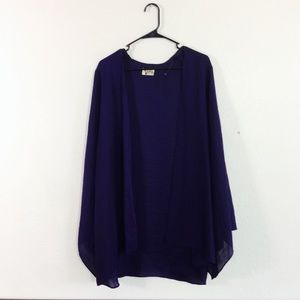 Show Me Your Mimi Purple Bell Sleeve Silk Shrug